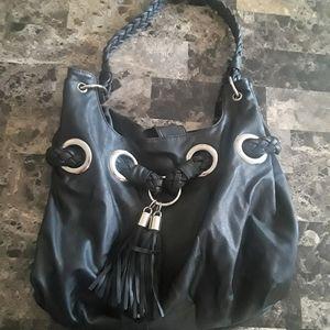 Classy black soft leather purse